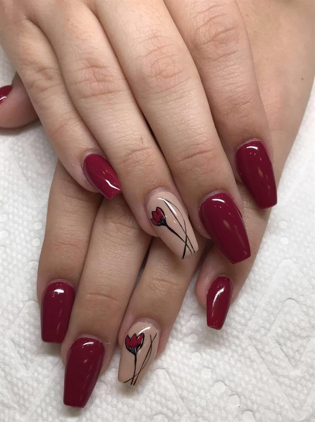 Melissa Robillard, The Nail Studio, Coconut Creek, Fla. - Day 331: Red Rose Nail Art - - NAILS Magazine