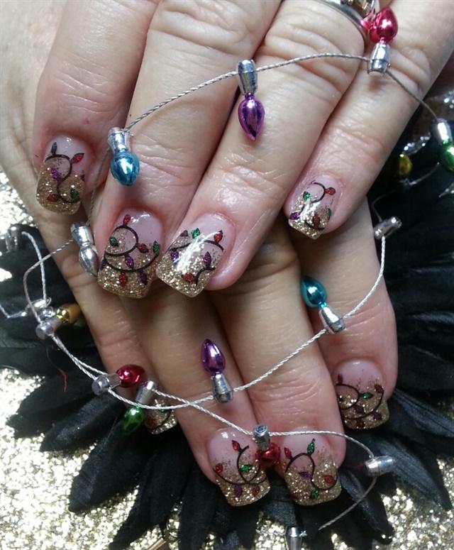 day 335 christmas lights snowflake nail art nails magazine