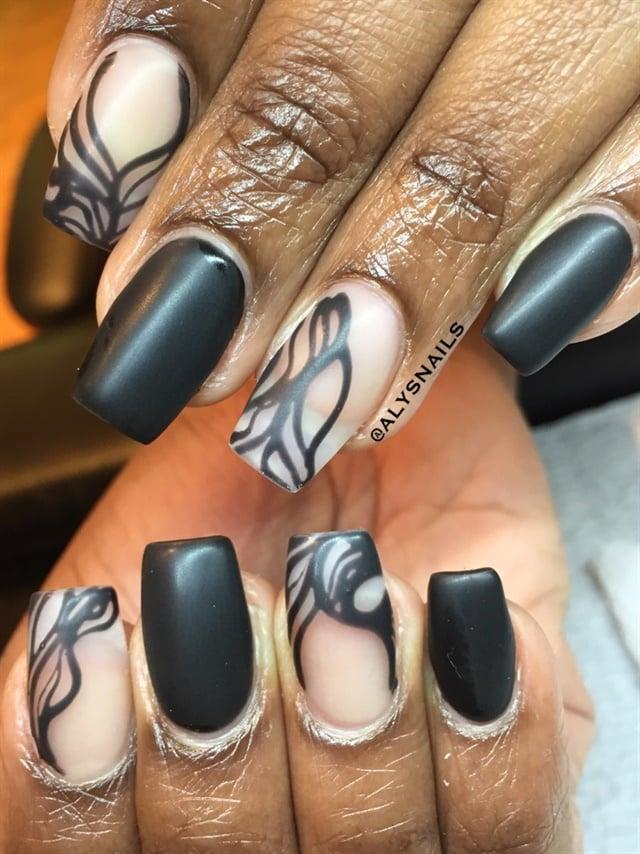 Day 361: Silver & Black Nail Art - - NAILS Magazine