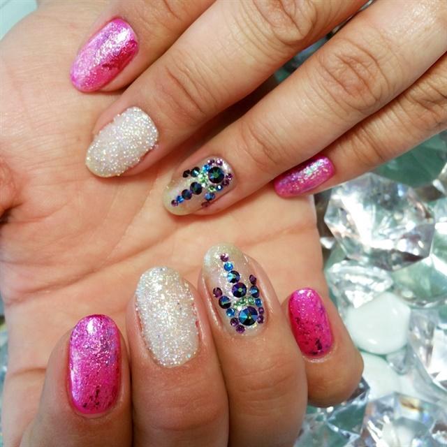 Day 41 pretty pink nail art nails magazine stacey luffy cks natural nail design studio tacoma wash prinsesfo Image collections