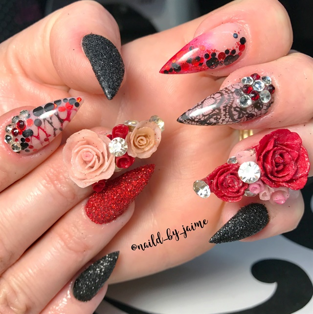 Day 43 Roses Are Red Nail Art Nails Magazine