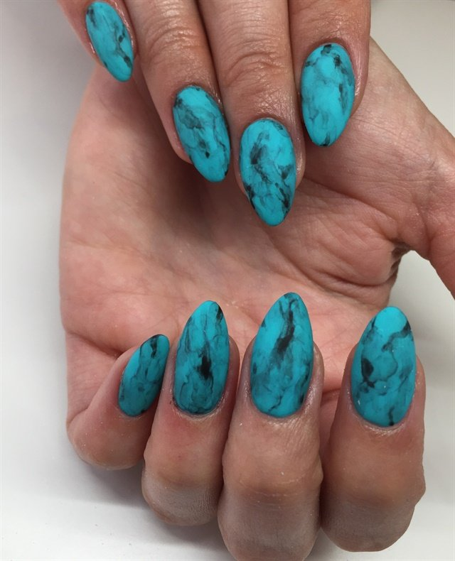 Yvett Garcia, Van Nuys, Calif. - Day 52: Turquoise Nail Art - - NAILS Magazine