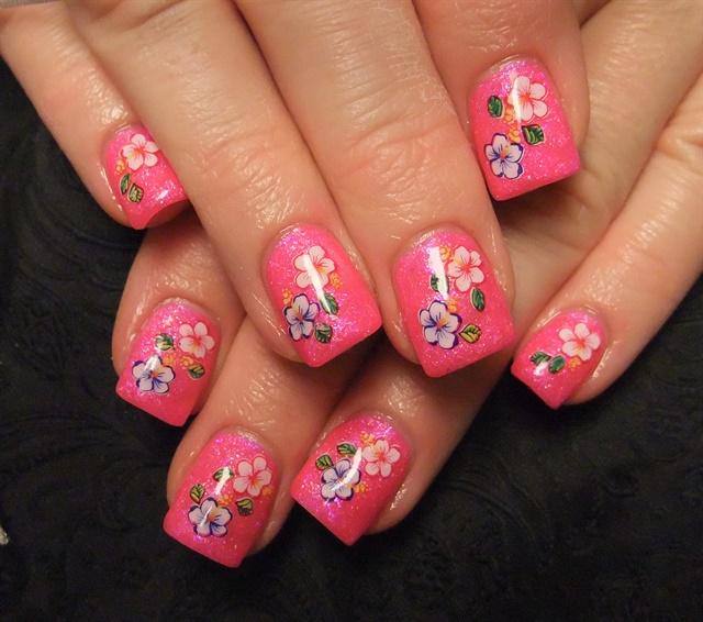 Day 56 pink flower nail art nails magazine janet schneider the nail fairy edmonton alberta canada mightylinksfo