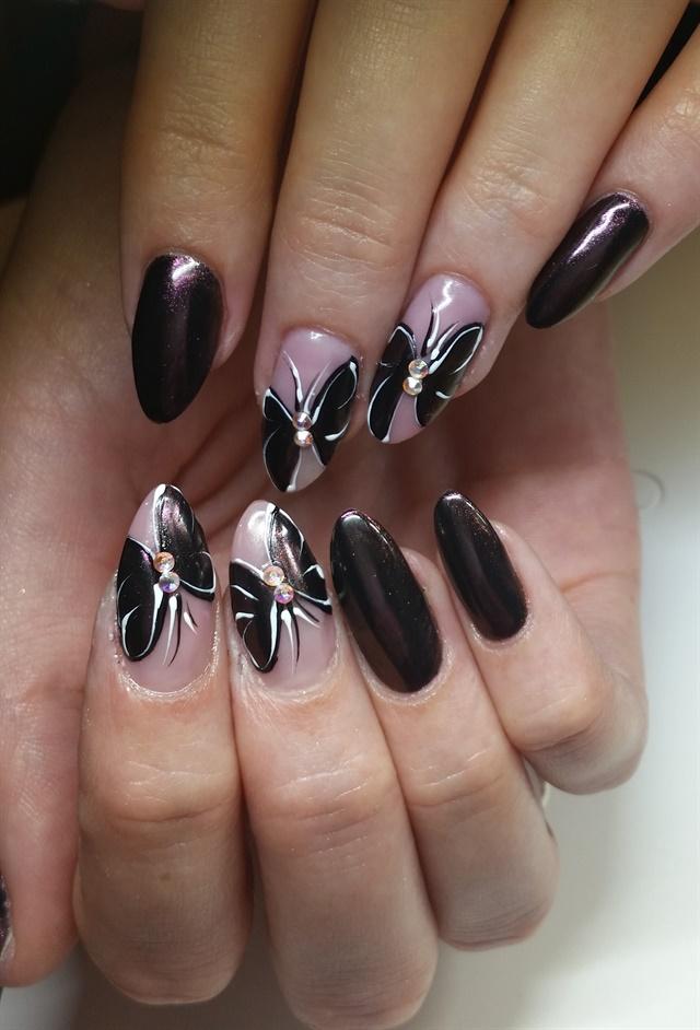 Day 75 Black Butterfly Nail Art Nails Magazine
