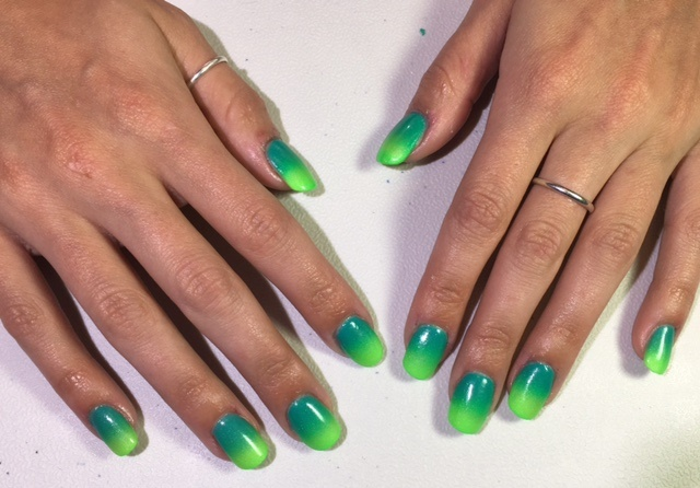 Day 97 Green Ombre Nail Art Nails Magazine