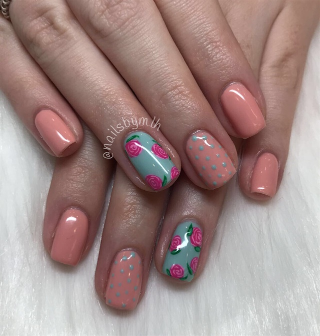 Day 103: Roses and Studs Nail Art - - NAILS Magazine