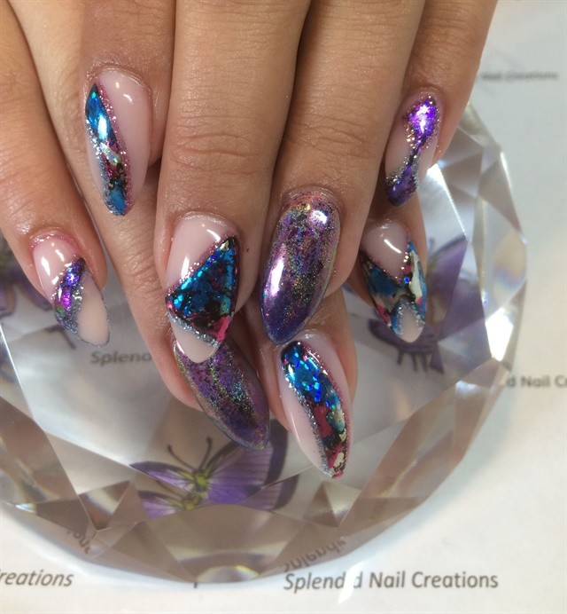 Day 104 Sea Turtle And Abstract Glitter Nail Art Nails Magazine