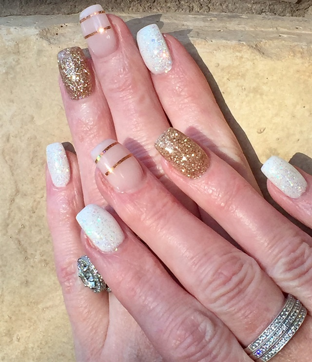 Day 11 White And Gold Nail Art Nails Magazine