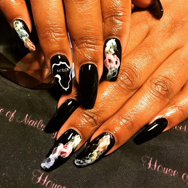 Day 128: African Marble Nail Art - - NAILS Magazine