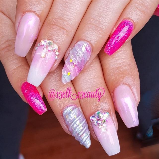 Day 137 Unicorn Pink Nail Art Nails Magazine