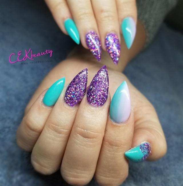 Purple Nail Art: Day 162: Summer Purple Nail Art