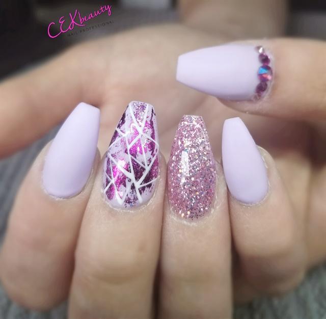Day 162: Summer Purple Nail Art - - NAILS Magazine
