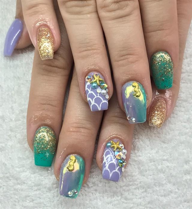 Day 166 Summer Mermaid Nail Art Nails Magazine