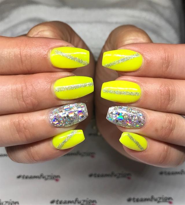 Day 169 Neon Yellow Nail Art Nails Magazine