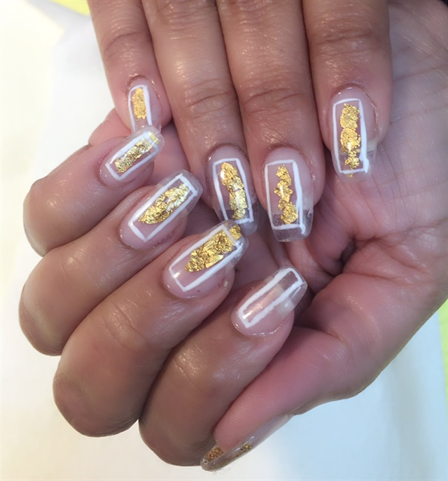 Day 17: Gold and Clear Nail Art - - NAILS Magazine