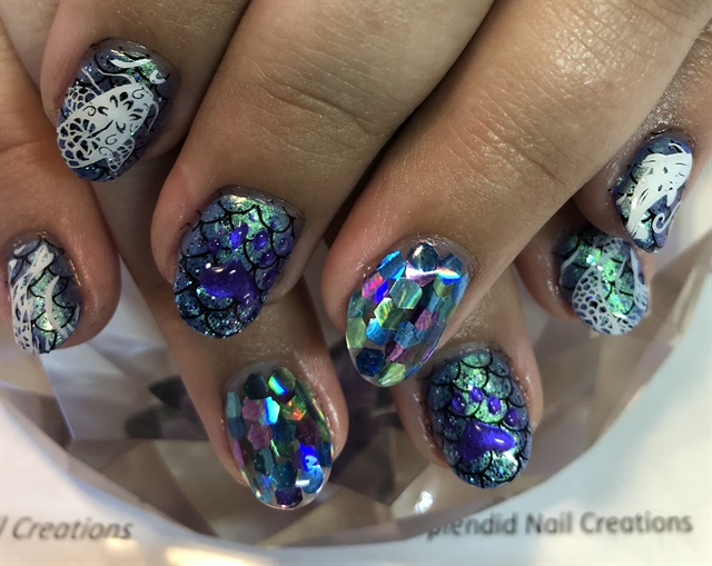 Day 189 Fish And Flowers Nail Art Nails Magazine