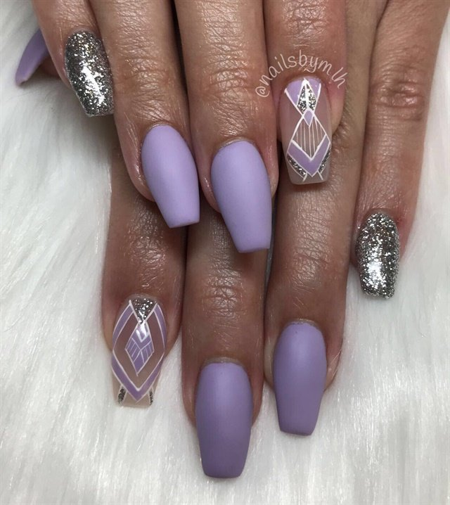 Day 198 Summer Art Deco And Foil Nail Art Nails Magazine