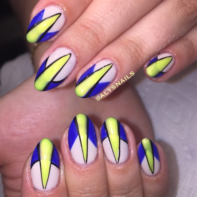 Day 2 Blue And Yellow Nail Art Nails Magazine
