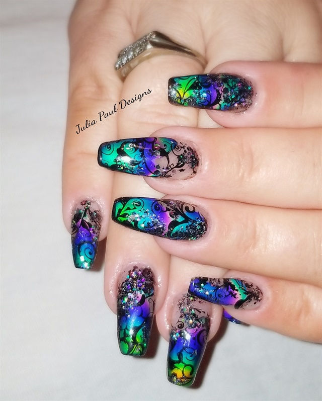 Julia Paul, Virginia Nail Designs, Windsor, Va. - Day 206: Liquid Crystal Nail Art - - NAILS Magazine