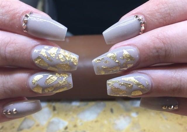 Day 218 Gold Foil Nail Art Nails Magazine