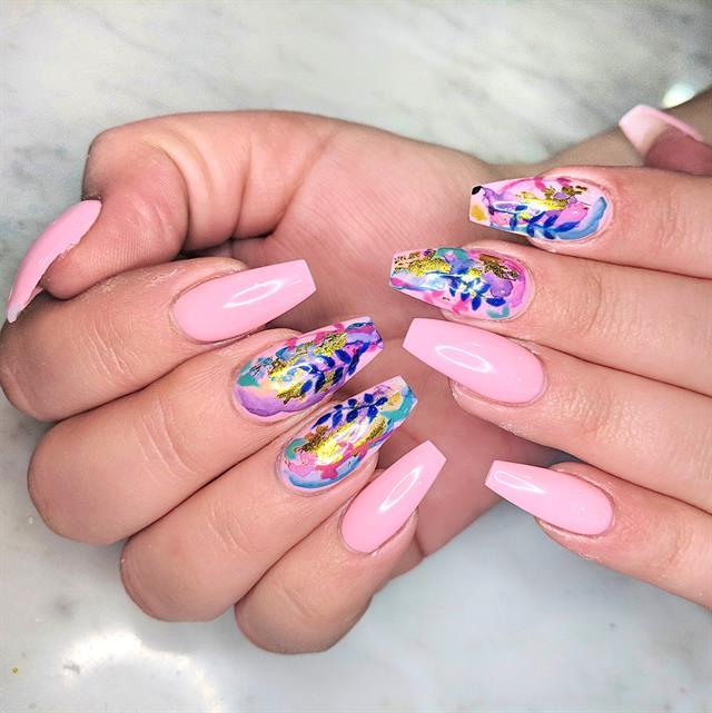 Day 223 Summer Watercolor Nail Art Nails Magazine