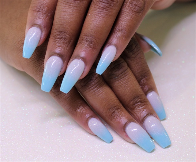 Day 232 Sky Blue And Purple Ombre Nail Art Nails Magazine