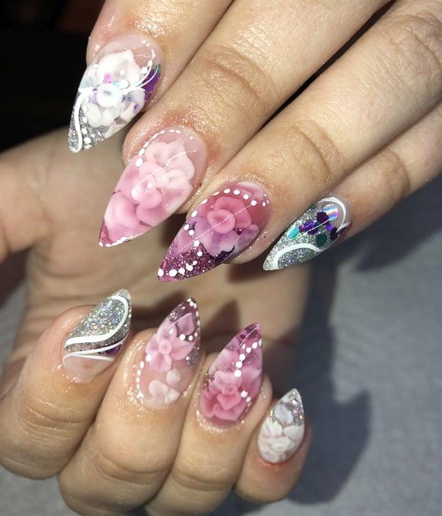 Day 234 Embedded Flower Nail Art Nails Magazine