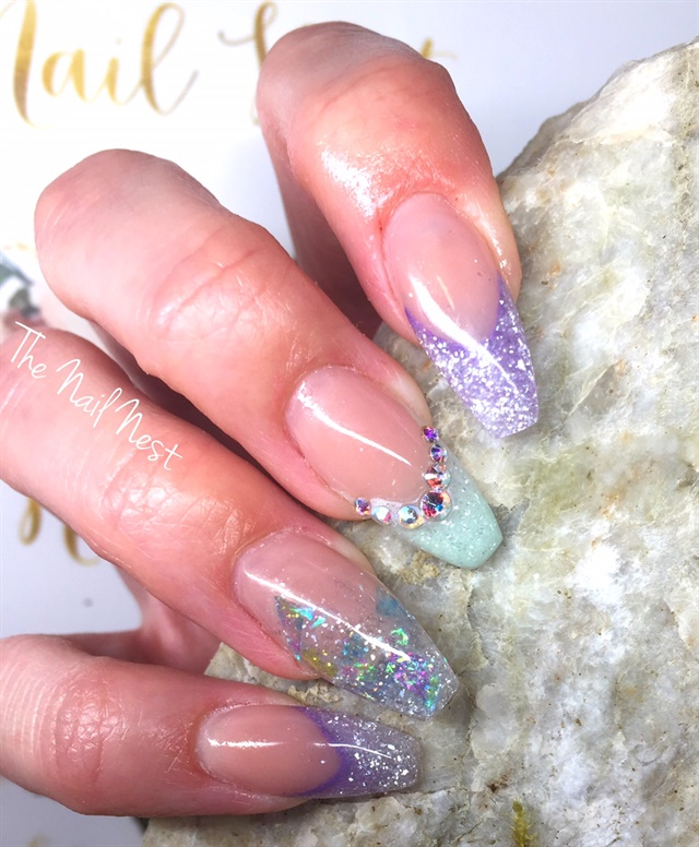 Day 25 Lavender And Light Blue Nail Art Nails Magazine