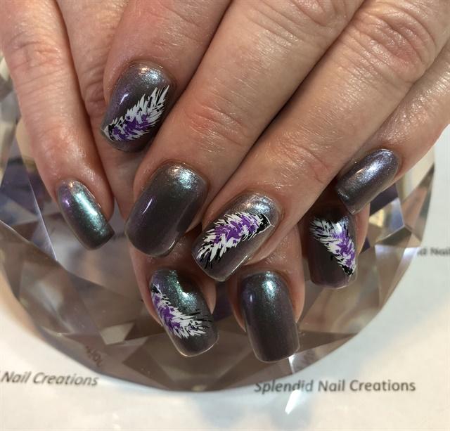 Day 258 Purple Feather Nail Art Nails Magazine