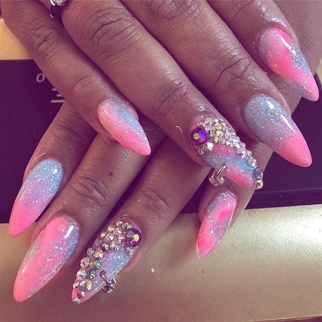 Day 267 Glitter And Nail Piercing Nail Art Nails Magazine