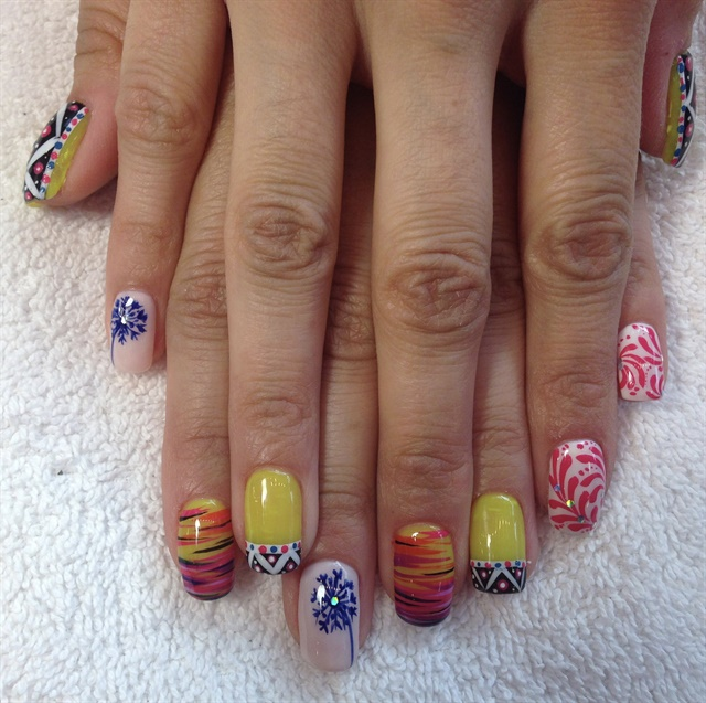 Day 28 tribal travel nail art nails magazine prinsesfo Choice Image