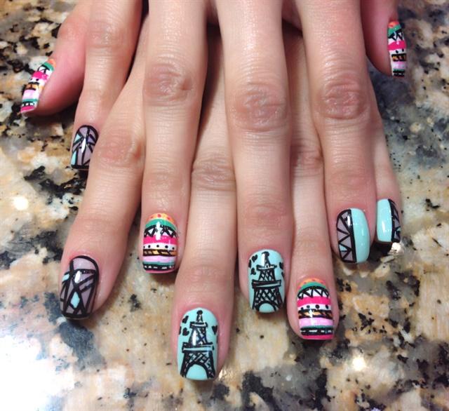 Day 28 tribal travel nail art nails magazine sheryl wong star nail spa el paso texas prinsesfo Choice Image