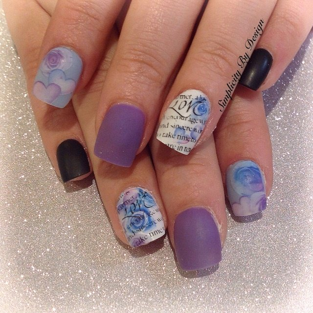 Day 38: Matte Purple Nail Art - - NAILS Magazine