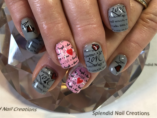 Day 42: Love Letters Nail Art - - NAILS Magazine