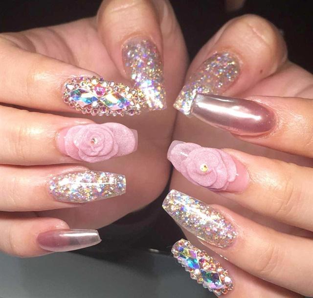 Day 55 Rose Gold Nail Art Nails Magazine