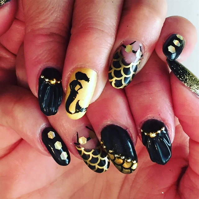 Becky Bunnell, Nailed by Becky, St. George, Utah. Keywords: mermaid nail art  ... - Day 56: Mermaid Nail Art - - NAILS Magazine