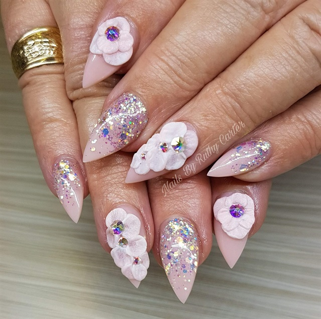 Day 59: Glitter and Gem Nail Art - - NAILS Magazine