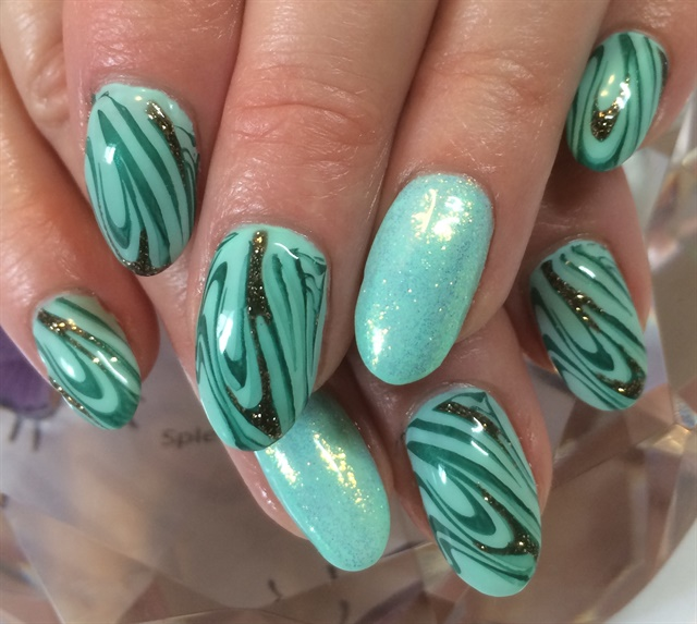 Day 62 Green Swirls Nail Art Nails Magazine
