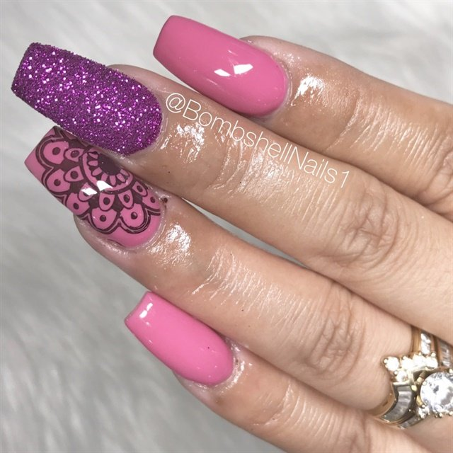 Day 65: Pink & Purple Nail Art - - NAILS Magazine