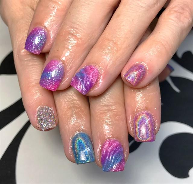 Q Riouser Q Riouser Nail Art: Day 66: Unicorn And Negative Space Nail Art