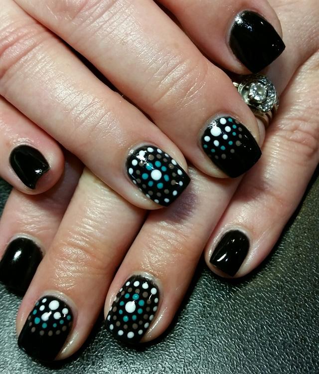 Celeste Tonra, Brielle, N.J.. Keywords: nail art polka dot ... - Day 68: Dot Nail Art - - NAILS Magazine
