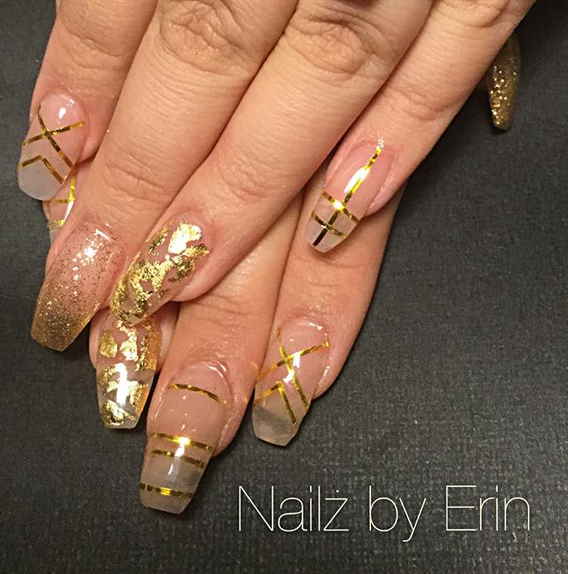 Day 75: Gold Lines Nail Art - - NAILS Magazine
