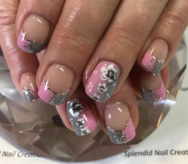 Day 78 Pink And Gray Nail Art Nails Magazine