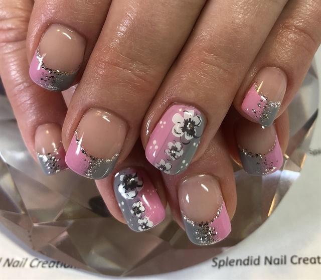 Day 78: Pink and Gray Nail Art - - NAILS Magazine