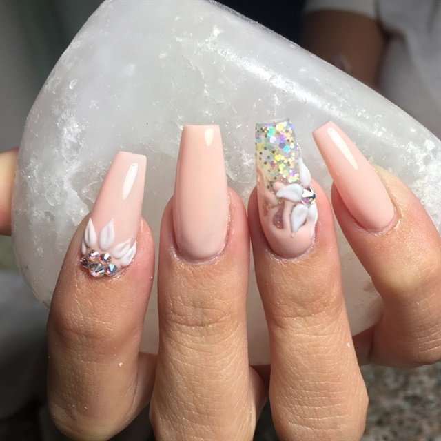 Day 87: 3-D Flower and Negative Space Nail Art - - NAILS Magazine