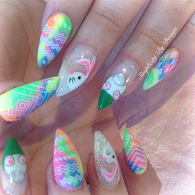 Day 91 Easter Bunny Nail Art Nails Magazine