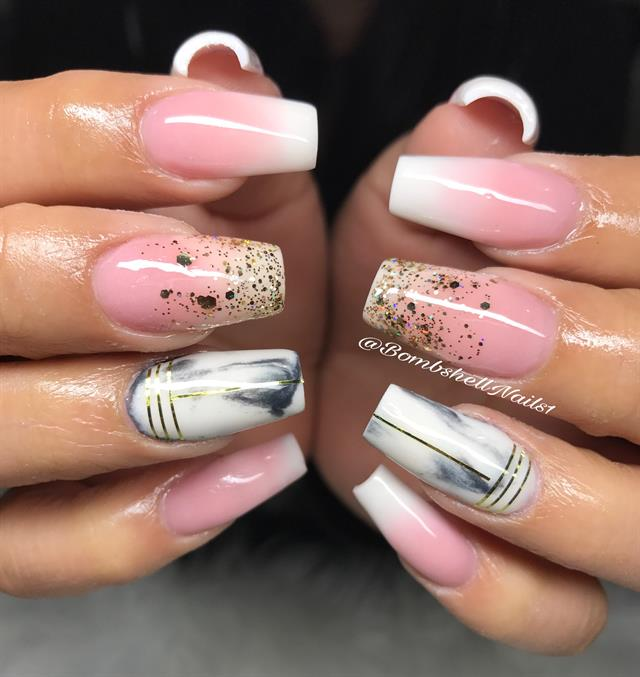 Day 93: Boomer and Marble Nail Art - - NAILS Magazine