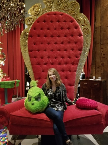 <p>Here I am with the Grinch. </p>