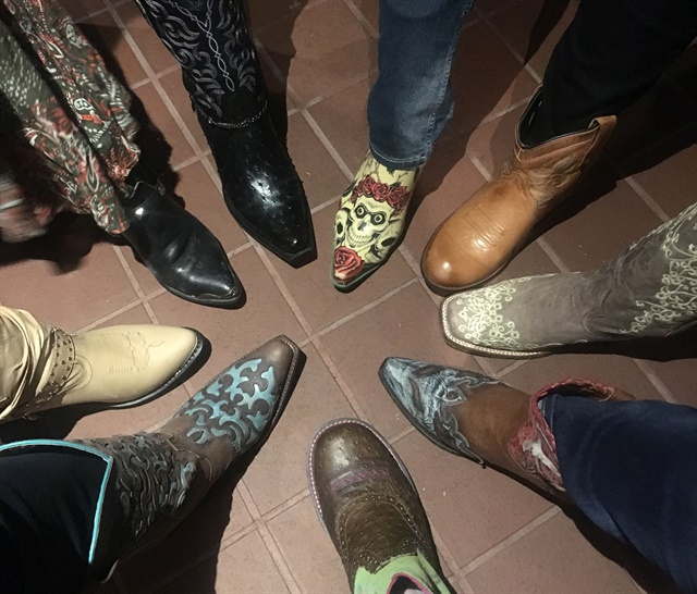 <p>Boots were the focus of the party and also inspiration for #naileyes.</p>