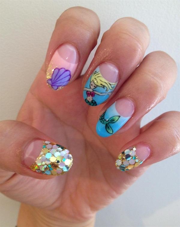 mermaid dreams nail art style nails magazine